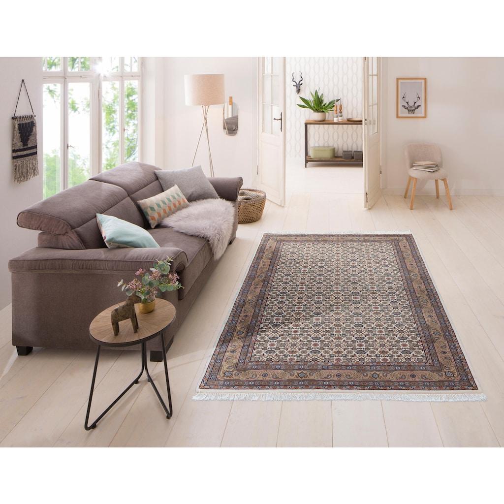 Home affaire Orientteppich »Kiara«, rechteckig, 12 mm Höhe, handgeknüpft, mit Fransen, Wohnzimmer