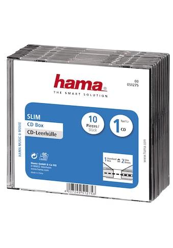 Hama CD-Leerhülle Slim, 10er-Pack, Transparent/Schwarz kaufen