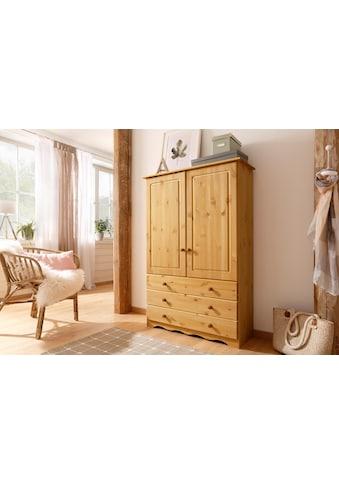 Home affaire Wäscheschrank »Minik«, aus schönem massivem Kiefernholz, in unterschiedlichen Farbvarianten kaufen