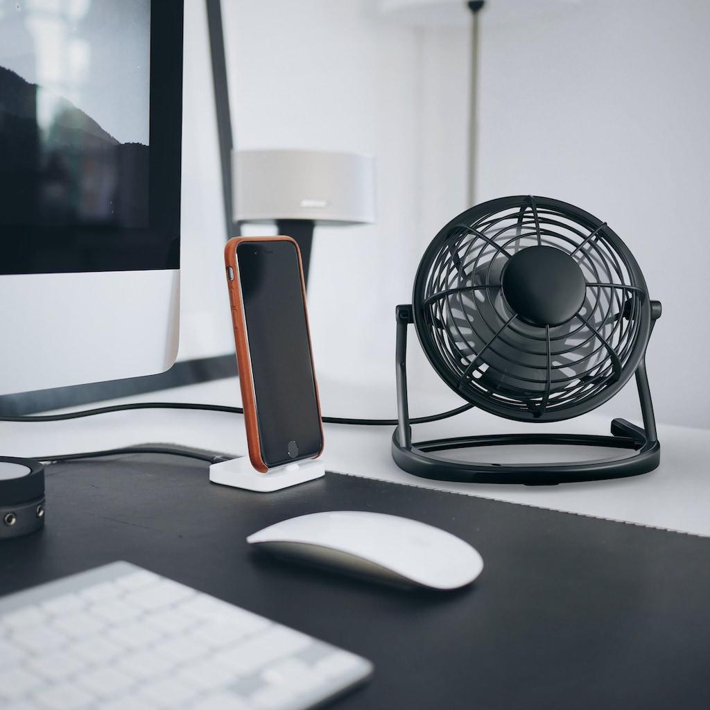 CSL USB Tischventilator - neigbar & mit An/Aus-Schalter