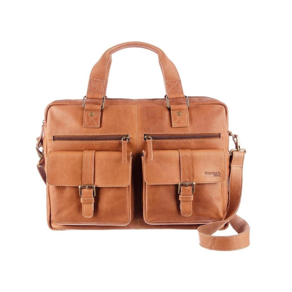 GreenLand Nature Messenger Bag, mit praktischem Reißverschluss-Rückfach
