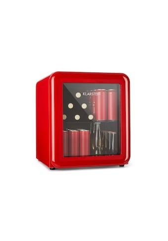 Klarstein Getränkekühler Kühlschrank 0 - 10°C Retro - Design rot »PopLife« kaufen