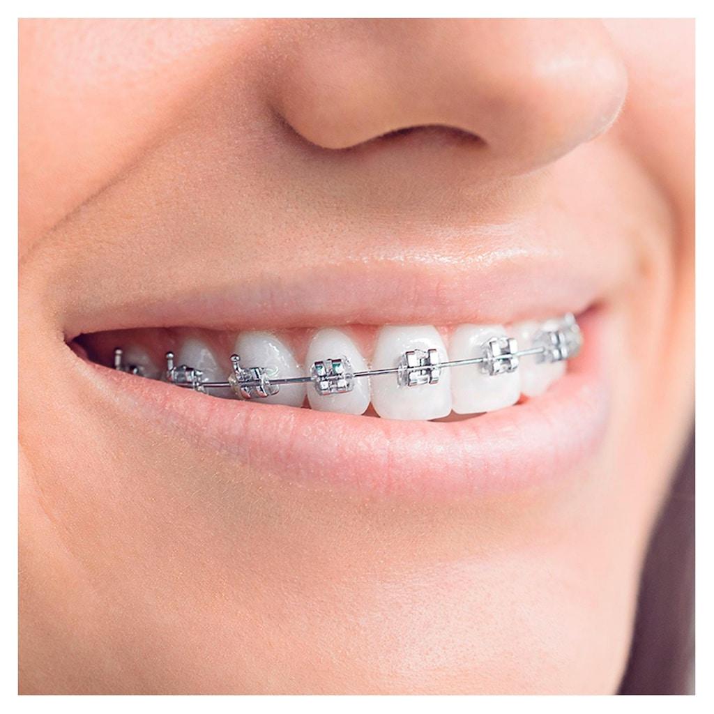 Oral B Elektrische Zahnbürste »Teen Black«, 2 St. Aufsteckbürsten, mit visueller Andruckkontrolle