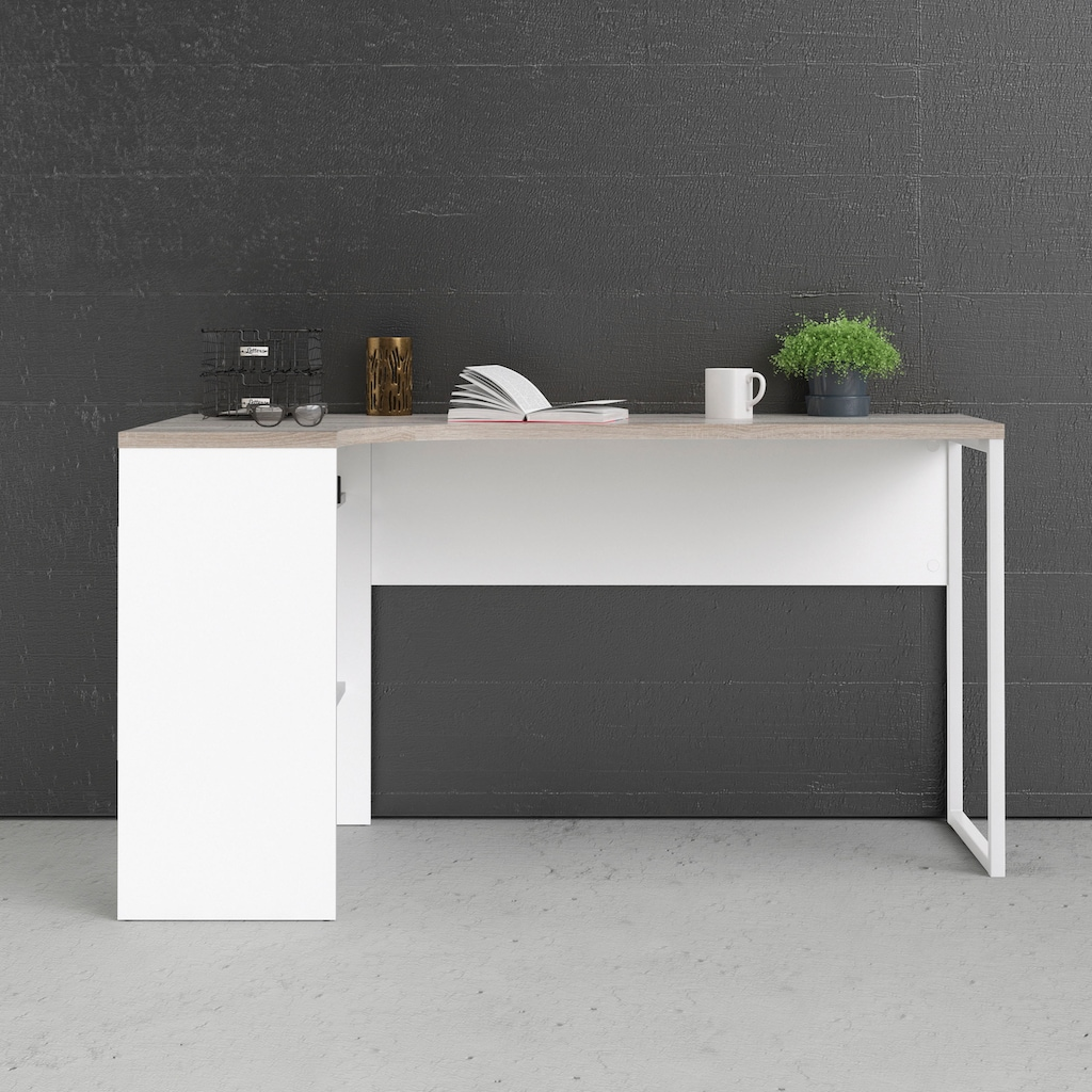 Home affaire Eckschreibtisch »Plus«, mit vielen Stauraummöglichkeiten, zeitloses Design