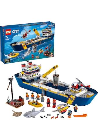 """LEGO® Konstruktionsspielsteine """"Meeresforschungsschiff (60266), LEGO® City Oceans"""", (745 - tlg.) kaufen"""