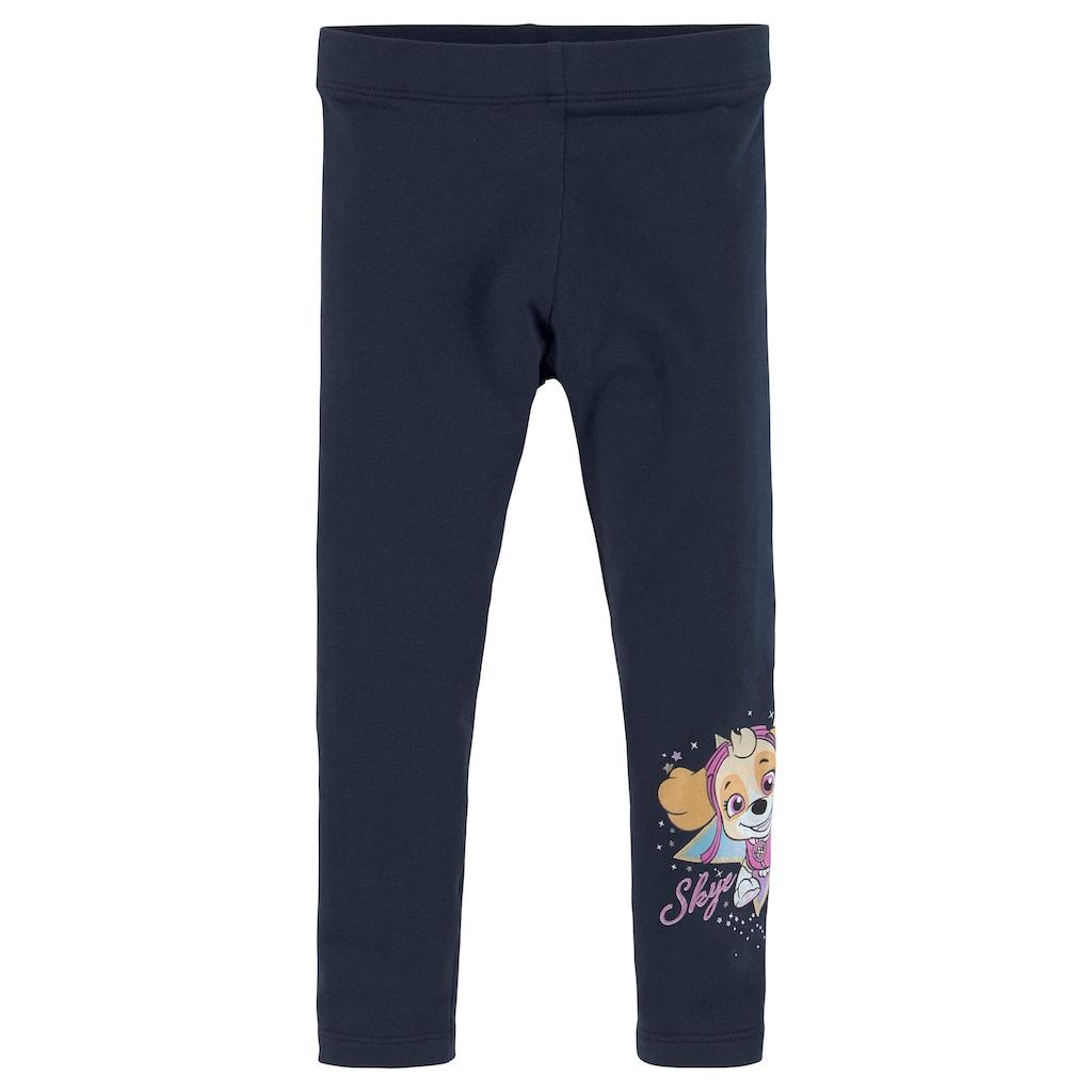 PAW PATROL Shirt & Leggings »TAKE TO THE SKIES!«, Glitzerdruck mit SKYE