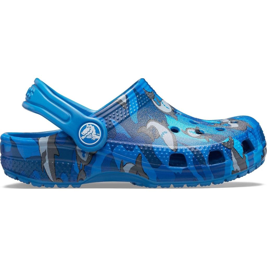 Crocs Clog »Classic Shark Clog«, mit schwenkbarem Fersenriemen