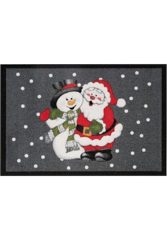 Fußmatte, »Santa Snowman«, HANSE Home, rechteckig, Höhe 7 mm, maschinell getuftet kaufen