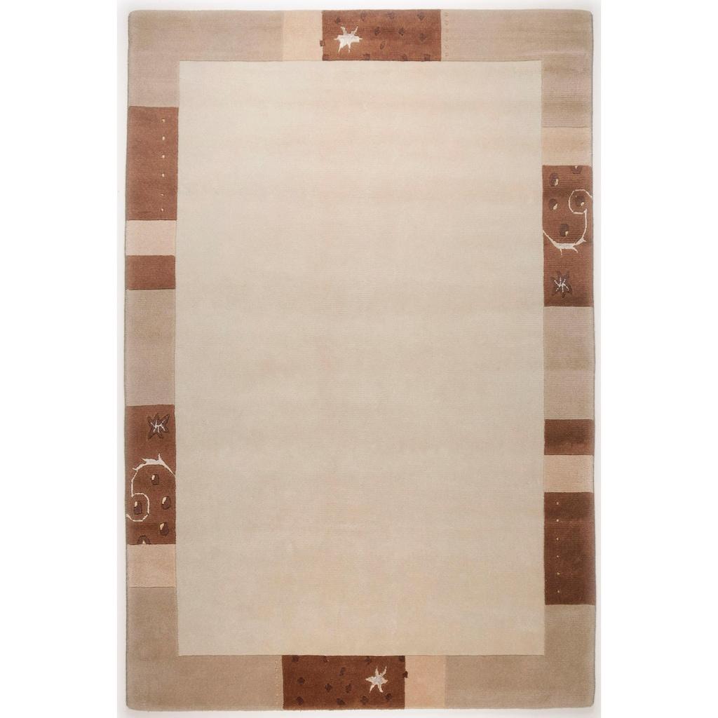 THEKO Teppich »Sierra«, rechteckig, 14 mm Höhe, handgeknüpft, mit Bordüre, Wohnzimmer