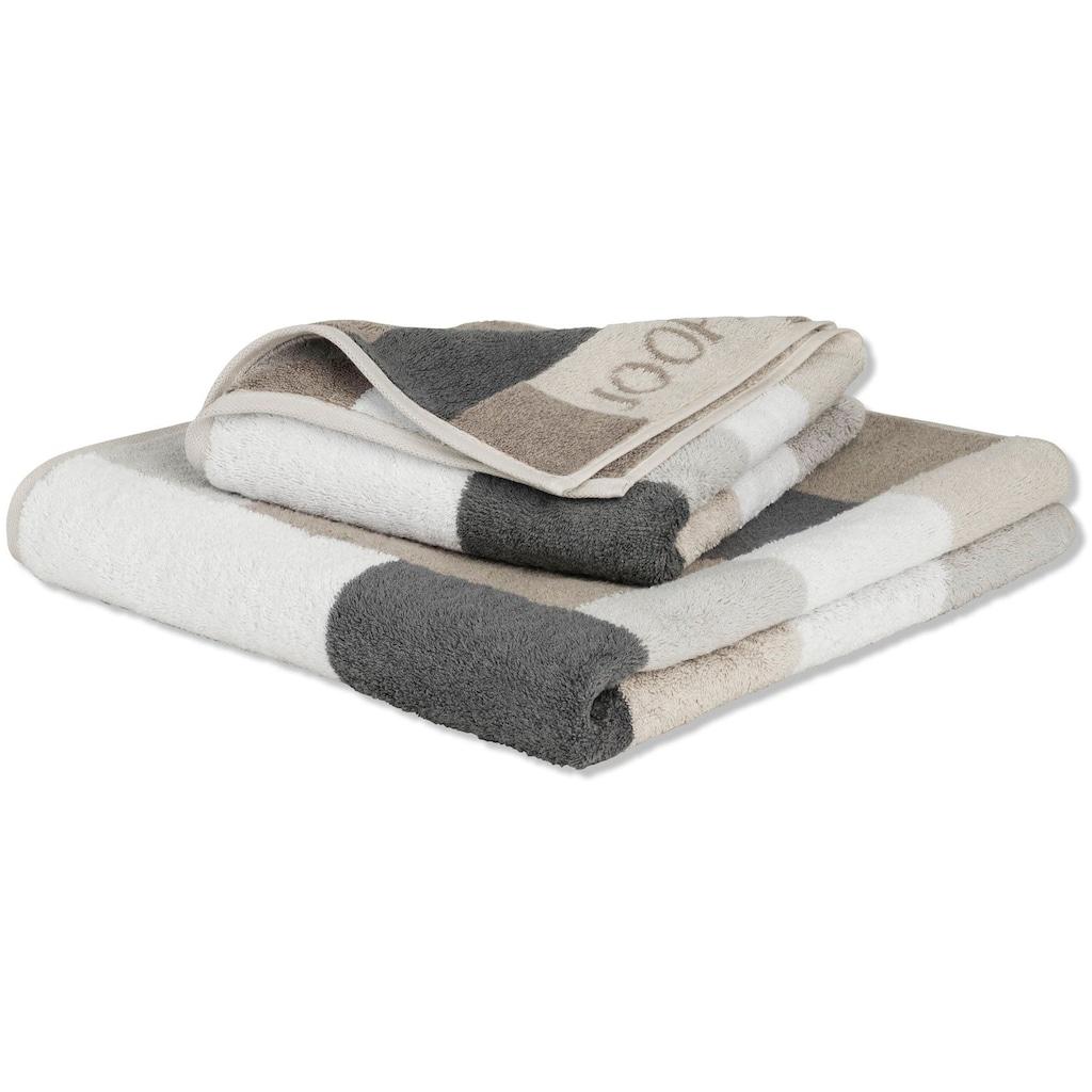 Joop! Handtücher »INFINITY Mosaic«, (2 St.), mit kontrastfarbenen Karos