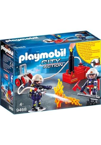 Playmobil® Konstruktions-Spielset »Feuerwehrmänner mit Löschpumpe (9468), City... kaufen