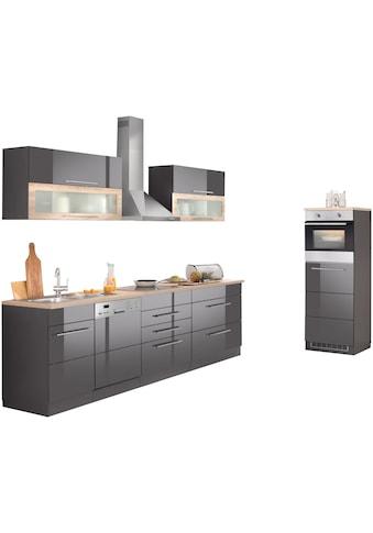 HELD MÖBEL Küchenzeile »Wien«, mit E - Geräten, Breite 350 cm, wahlweise mit Induktion kaufen