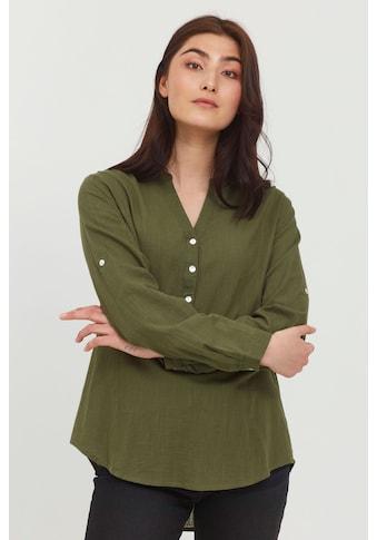 b.young Langarmbluse »b.young Damen Bluseshirt mit V-Ausschnitt«, Blusenshirt mit... kaufen