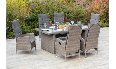 MERXX Gartenmöbelset »Molina«, (7 tlg.), 6 Gartensessel mit Tisch kaufen