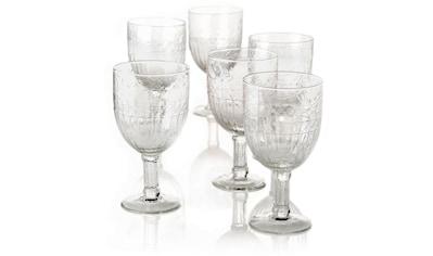 Weißweinglas, (Set, 6 tlg.), Recycling-Glas, 6-teilig kaufen