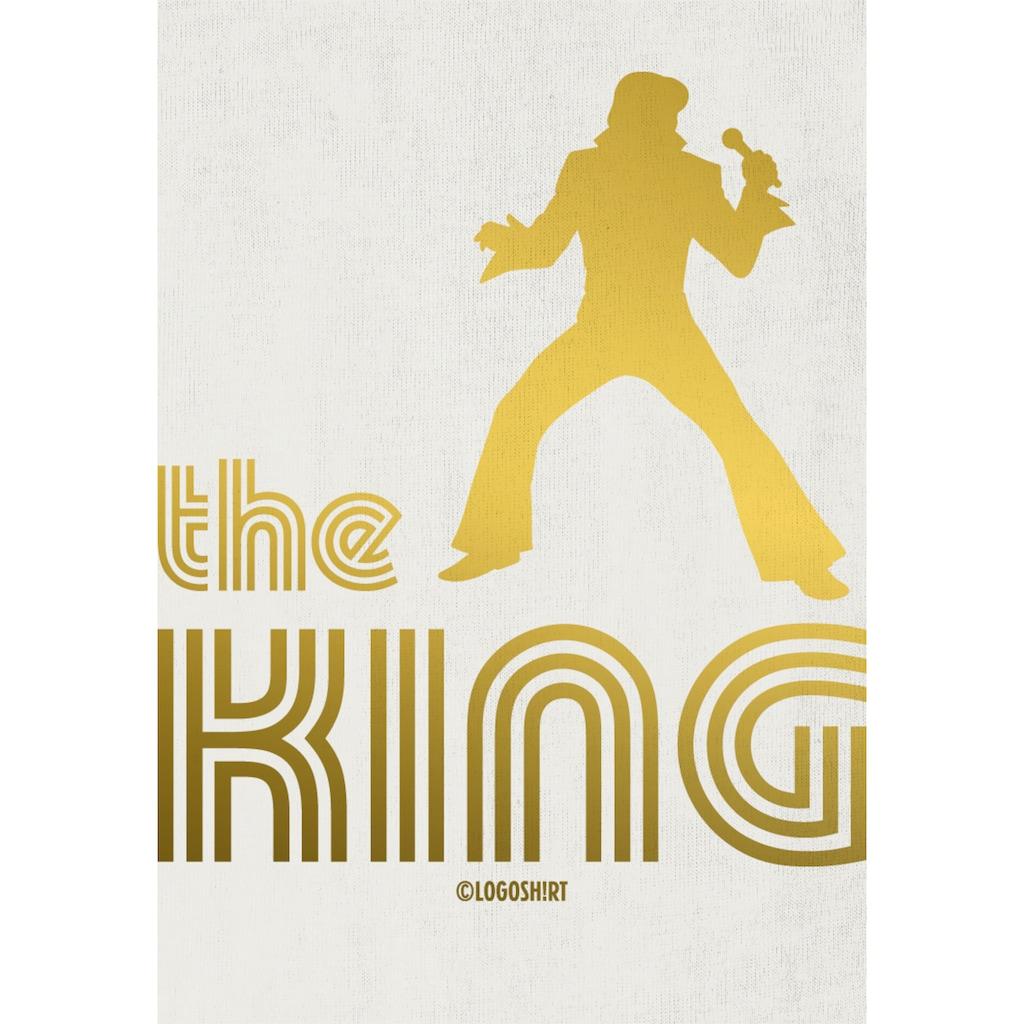 LOGOSHIRT Body The King-Fontdruck