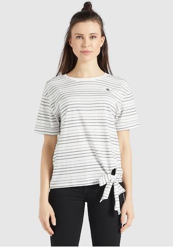 khujo T-Shirt »AURELIA«, mit Knotendetail vorne kaufen