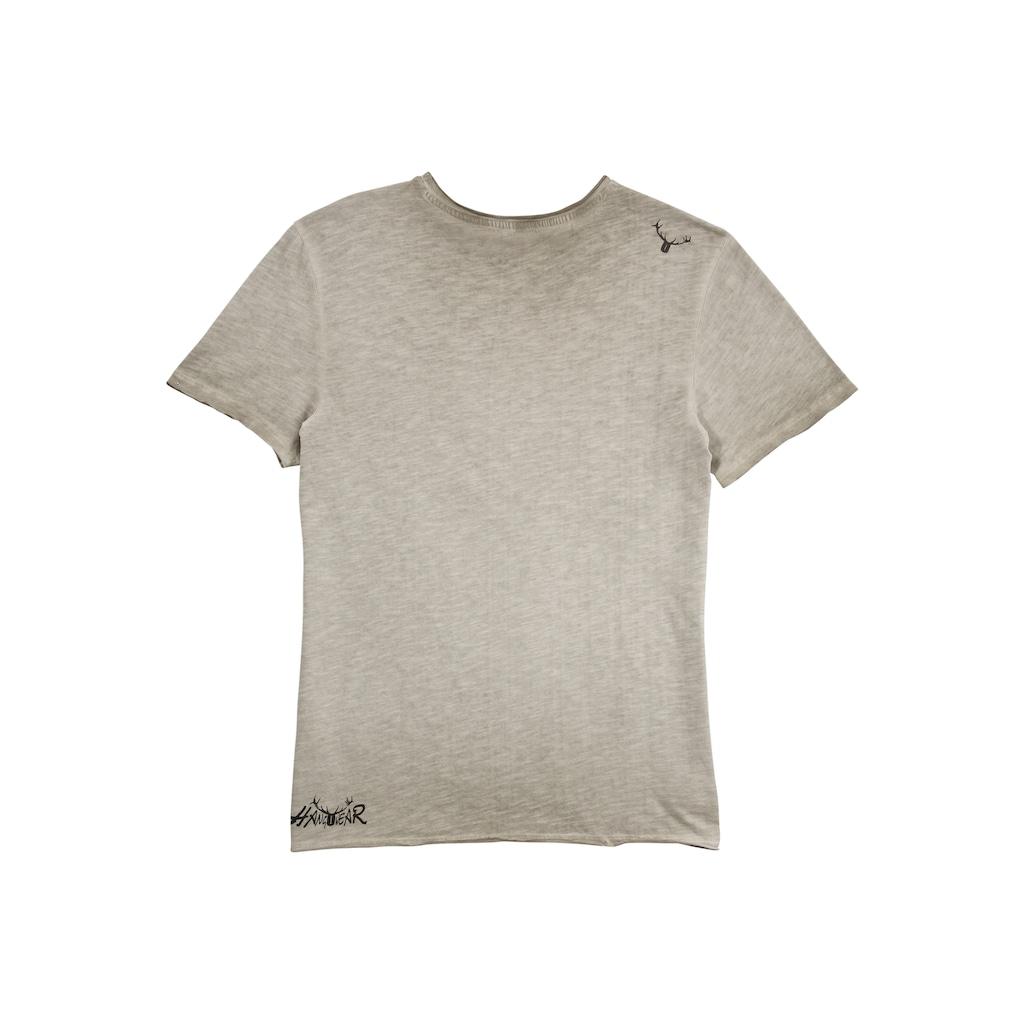 Hangowear Trachtenshirt, mit originellem Motiv und App zum Herunterladen