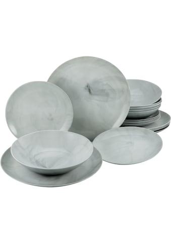 CreaTable Tafelservice »Marmor«, (Set, 18 tlg.), mit natürlicher Marmorstruktur kaufen