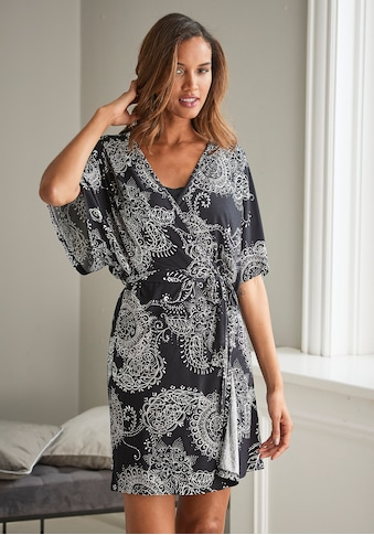 Vivance Dreams Kimono, im schwarz-weißen Paisley-Dessin kaufen