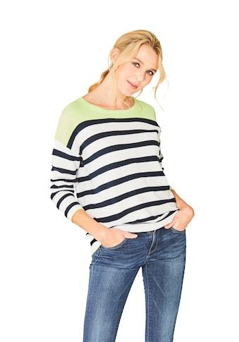 Hajo Trendiger Pullover Dreiviertelarm kaufen