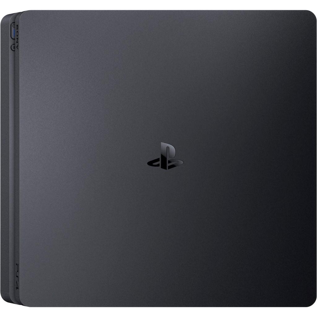 PlayStation 4 Konsolen-Set »Slim«, (Bundle, inkl. 2 PlayStation 4 Wireless DualShock Controller)