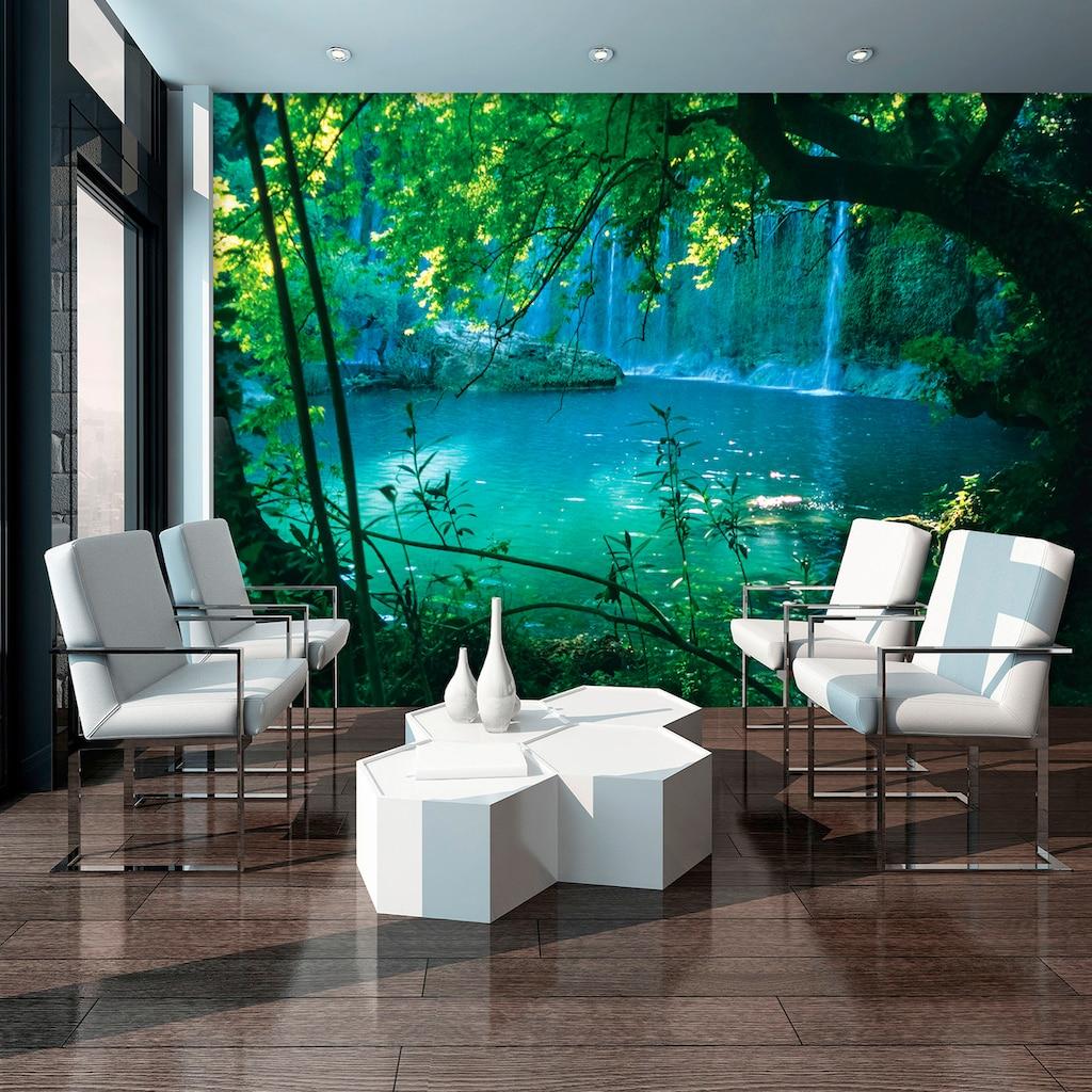 Consalnet Vliestapete »Geheimer Türkiser See«, verschiedene Motivgrößen, für das Büro oder Wohnzimmer