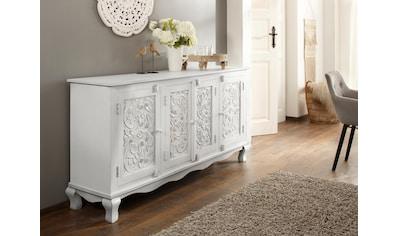 Home affaire Sideboard »Rajat«, aus schönem, massivem Mangoholz und beeindruckenden... kaufen