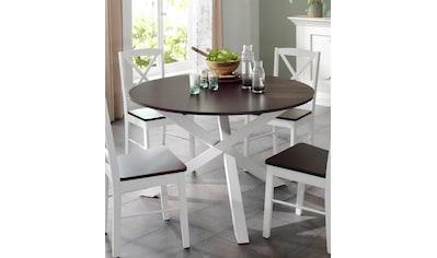 Home affaire Esstisch »Bristol«, aus massivem schönem Kiefernholz, mit einzigartigem... kaufen