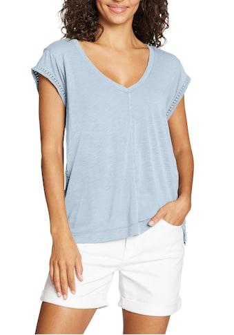Eddie Bauer T-Shirt, Gatecheck Shirt mit Häkeldetails kaufen