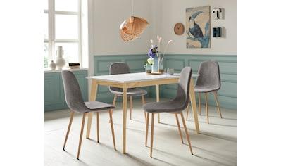 Homexperts Essgruppe »Kaitlin Tischgruppe«, (Set, 5 tlg., bestehend aus Esstisch... kaufen