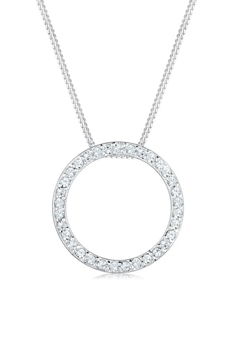 Elli Collierkettchen »Kreis Kristalle 925 Silber« kaufen