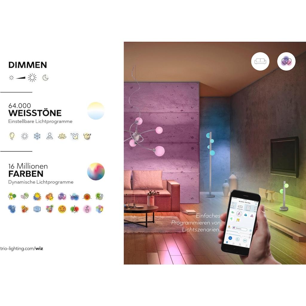 TRIO Leuchten LED Deckenleuchte »CHARLY«, LED-Board, Warmweiß-Neutralweiß-Kaltweiß-Tageslichtweiß, Mit WiZ-Technologie für eine moderne Smart Home Lösung