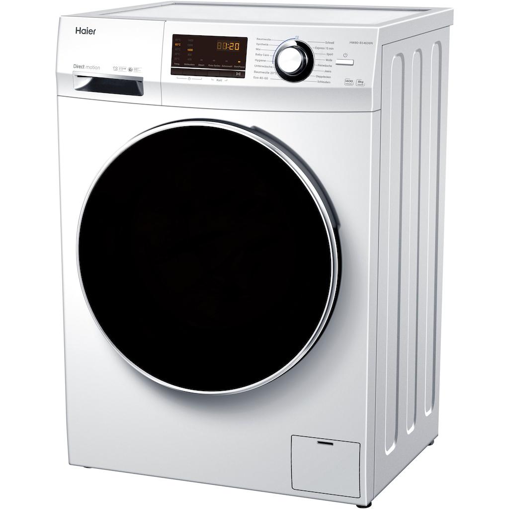 Haier Waschmaschine »HW80-B14636N«, HW80-B14636N, 8 kg, 1400 U/min