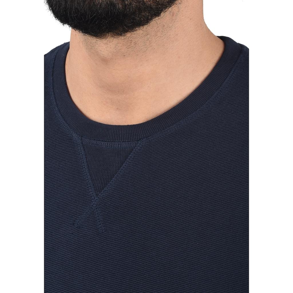 Blend Sweatshirt »Falk«, Sweatpullover mit Metallbadge