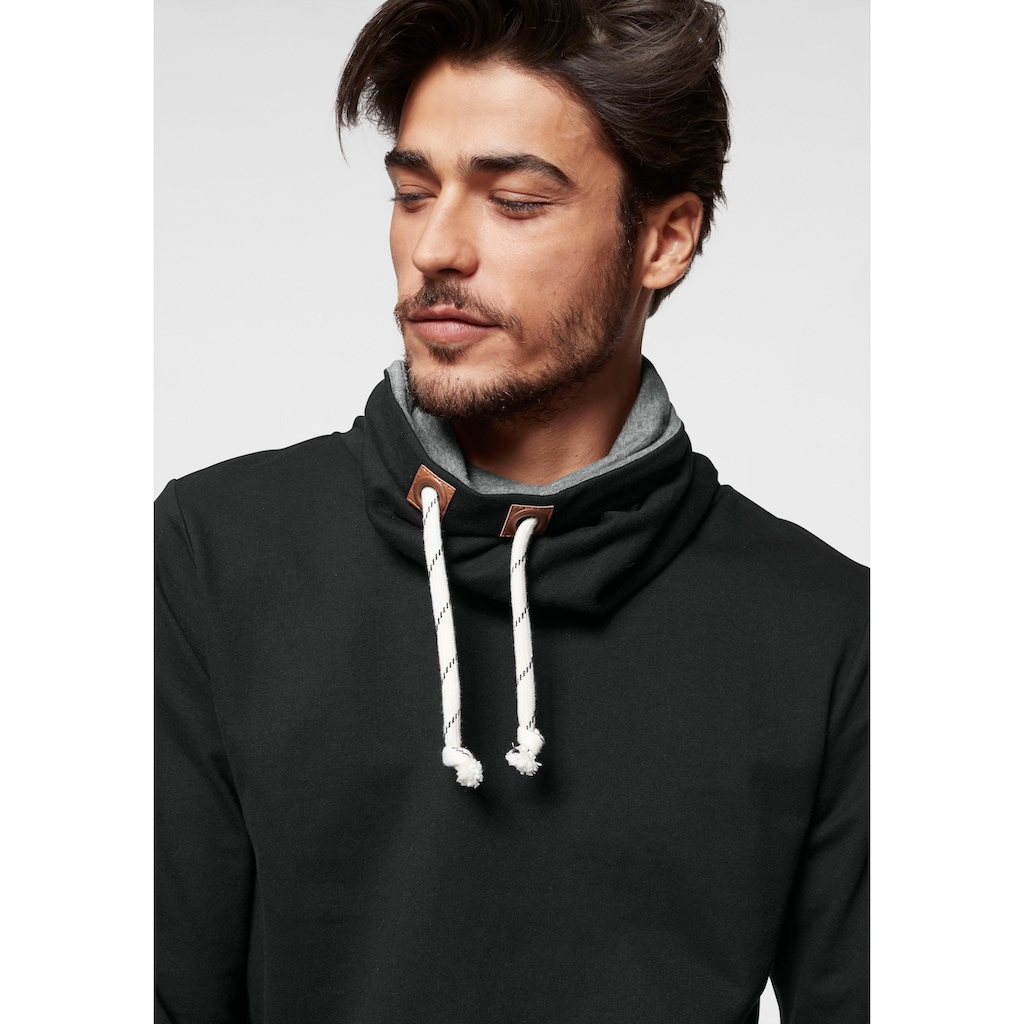 Bruno Banani Sweatshirt, mit grauen Innenkragen