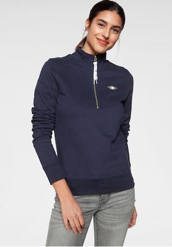 TOM TAILOR Polo Team Sweatshirt, mit Logo-Tape am Reißverschluss kaufen