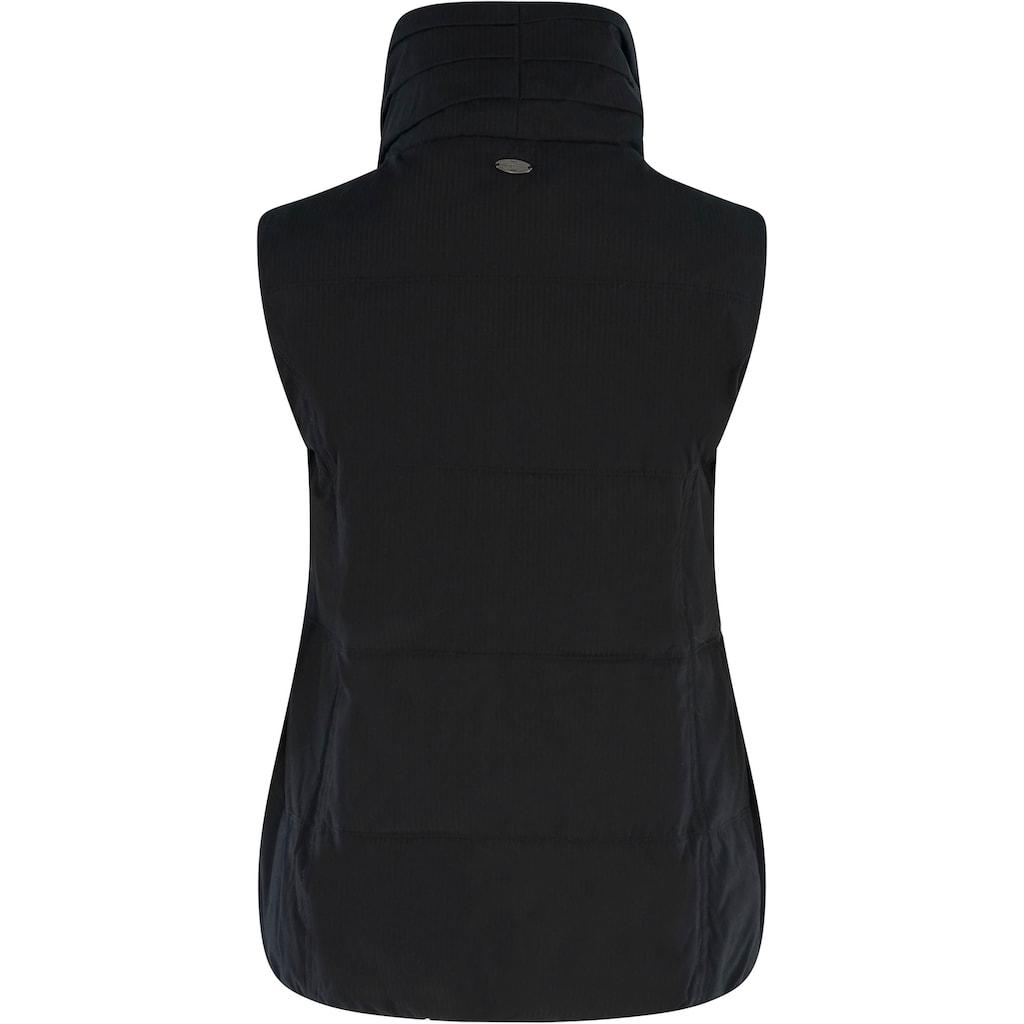 MAZINE Longweste »Kenley Vest«, mit hohem Stehkragen & Plüschfutter