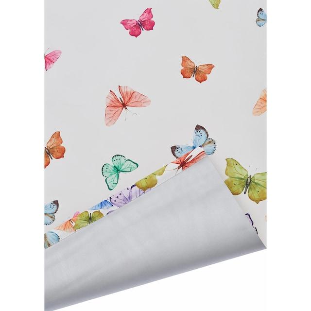 Seitenzugrollo »Butterfly«, Home affaire, verdunkelnd, ohne Bohren, freihängend