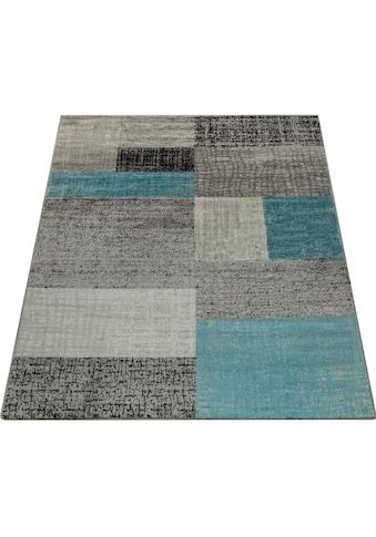 Paco Home Teppich »Sinai 075«, rechteckig, 9 mm Höhe, Kurzflor mit Karo Muster,... kaufen