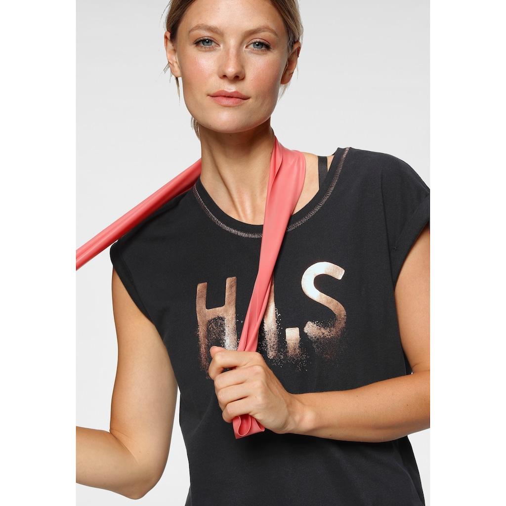 H.I.S T-Shirt »mit glänzenden Druck«