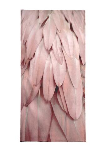 Juniqe Handtuch »Pastel Feathers«, (1 St.), Weiche Frottee-Veloursqualität kaufen