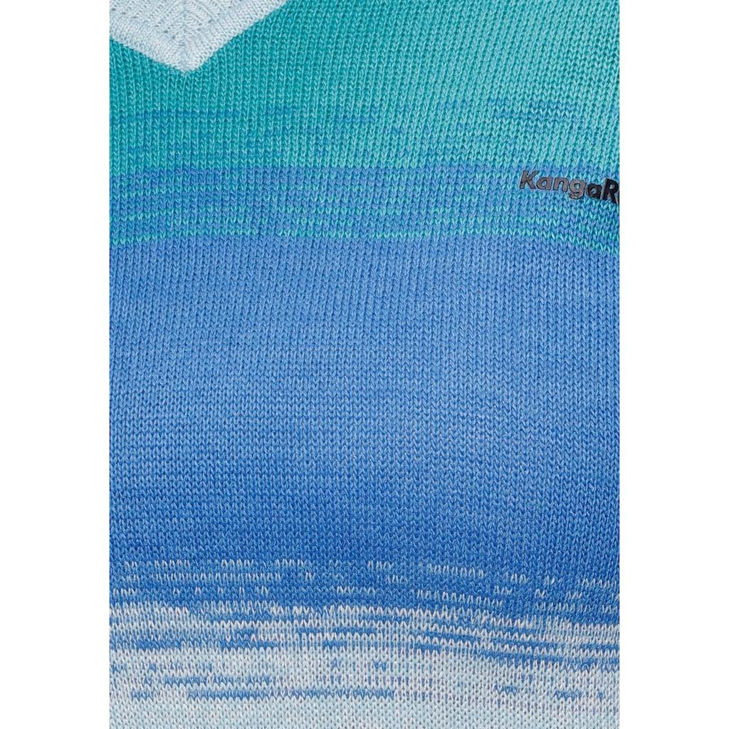 KangaROOS V-Ausschnitt-Pullover, in modischem Melange Strick