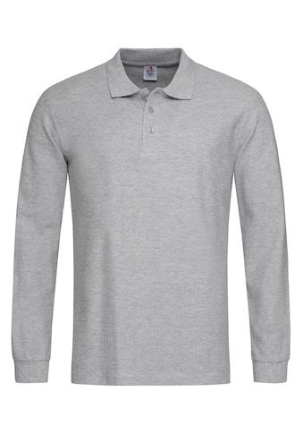 Stedman Langarm - Poloshirt mit Ton - in - Ton - Knopfleiste kaufen