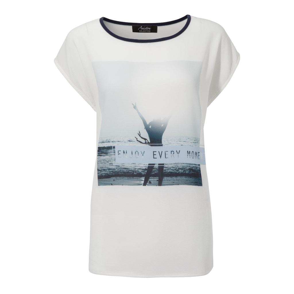 Aniston SELECTED Blusenshirt, im Materialmix