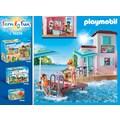 "Playmobil® Konstruktions-Spielset ""Eisdiele am Hafen (70279), Family Fun"", Kunststoff"