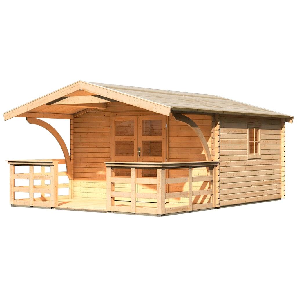 Karibu Gartenhaus »Meldorf 5«, mit Vordach und Terrasse