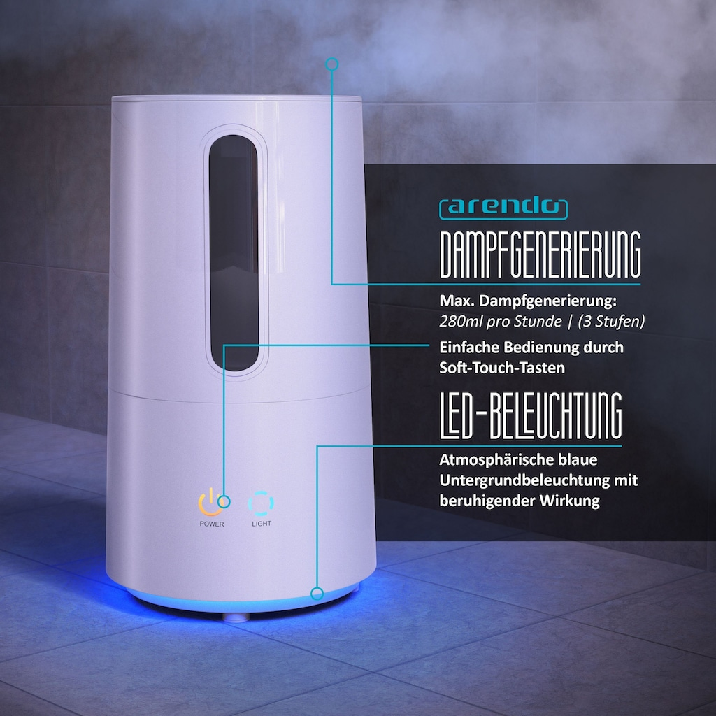 Arendo Repose Ultraschall Luftbefeuchter mit Aroma Reservoir