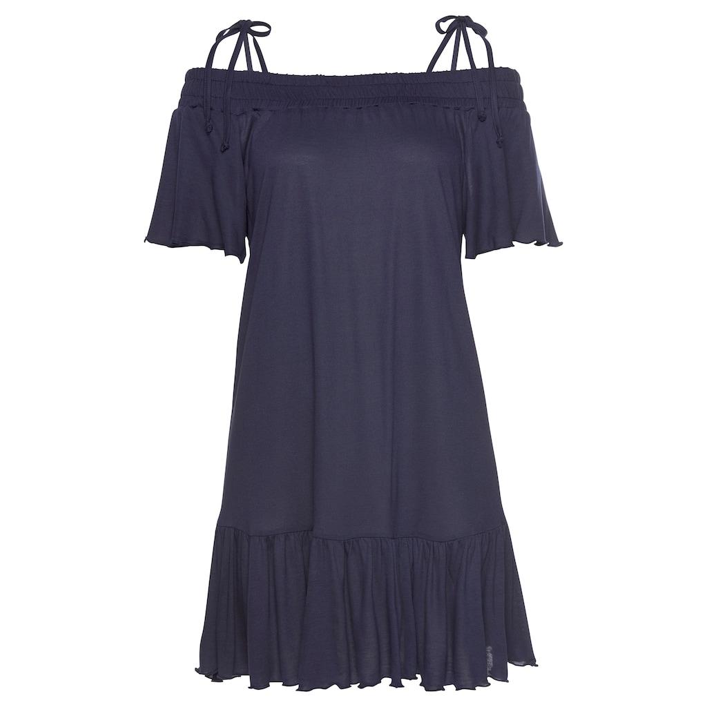 LASCANA Jerseykleid, mit Carmenausschnitt