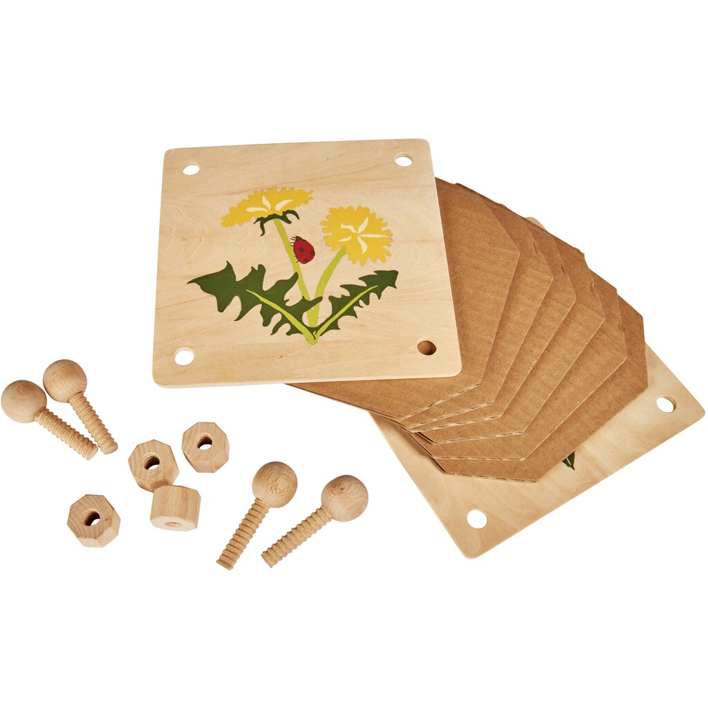 Eichhorn Kreativset »EH Outdoor, Blätterpresse«, (Set), zum Zusammenbauen und Bemalen; Made in Europe